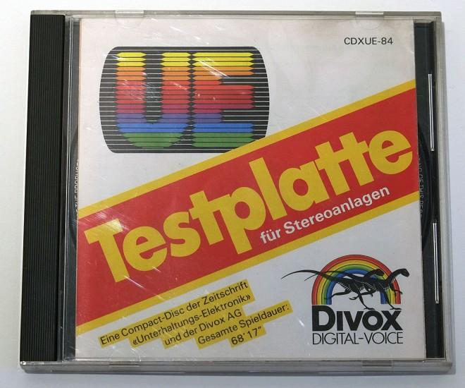 Divox Testplatte für Stereoanlagen