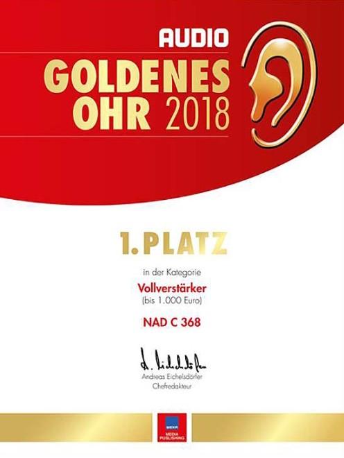 NAD C368 Golgenes Ohr 2018 Audio