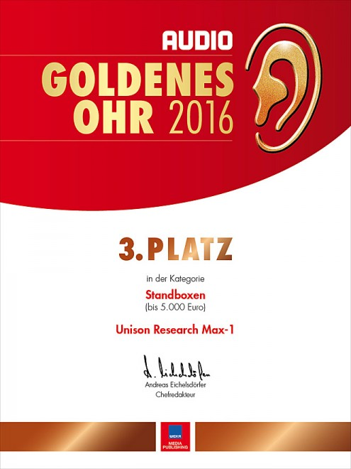 Unison Research Max 1 Goldenes Ohr Audio